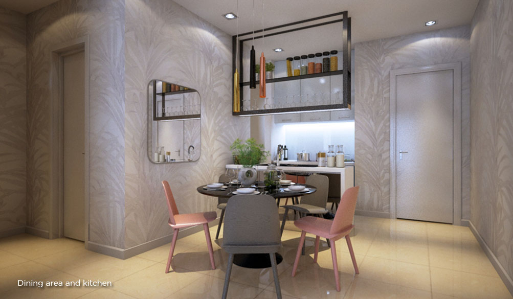 Citizen2 Dining Area and Kitchen